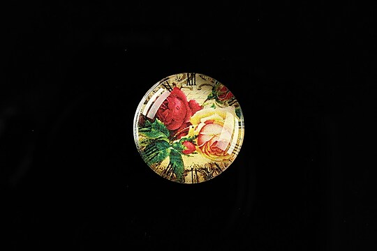 "Cabochon sticla 20mm ""Vintage Clocks"" cod 490"