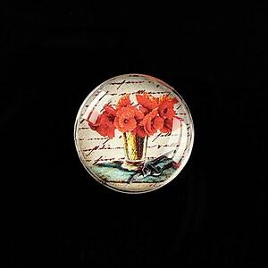 "Cabochon sticla 20mm ""Vintage elegance"" cod 491"