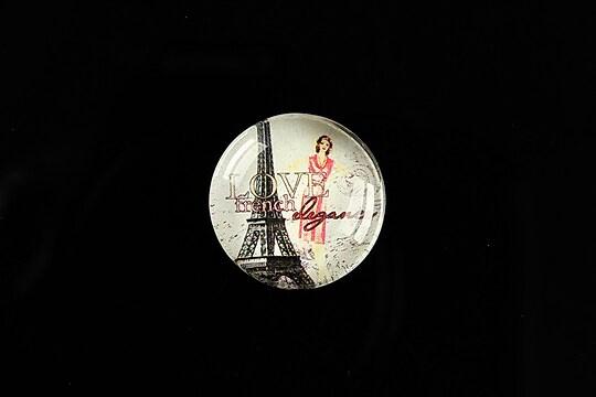 "Cabochon sticla 20mm ""Vintage elegance"" cod 492"