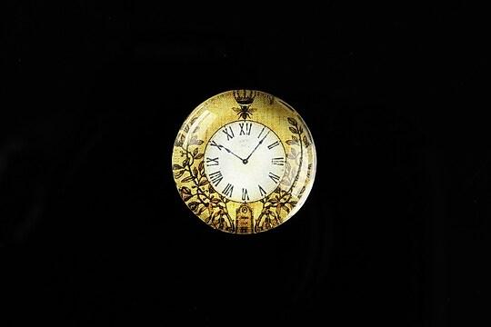 "Cabochon sticla 20mm ""Boy's Clock"" cod 493"