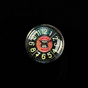"Cabochon sticla 20mm ""Boy's Clock"" cod 495"