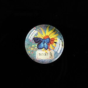 "Cabochon sticla 20mm ""'Forever Butterfly"" cod 498"