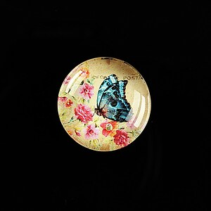 "Cabochon sticla 20mm ""'Forever Butterfly"" cod 500"