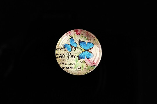 """Cabochon sticla 20mm """"'Forever Butterfly"""" cod 501"""