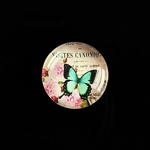 "Cabochon sticla 20mm ""'Forever Butterfly"" cod 502"