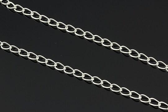 Lant argintiu 5x3mm (49cm)