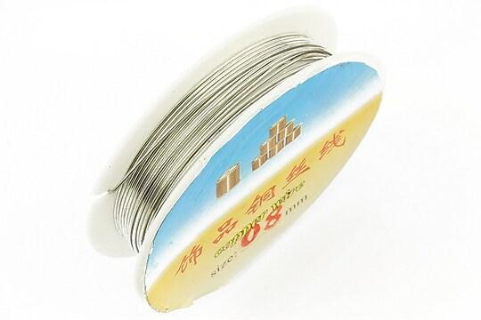 Sarma de modelaj argintie grosime 0,8mm, rola de aproximativ 3m