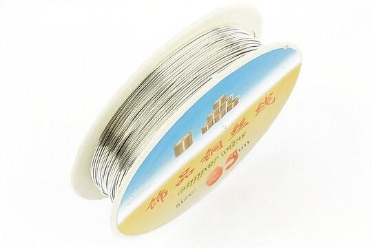Sarma de modelaj argintie grosime 0,5mm, rola de aproximativ 8m