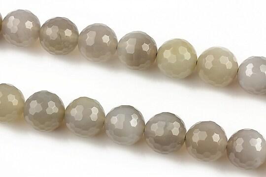 Agate gri sfere fatetate 10mm