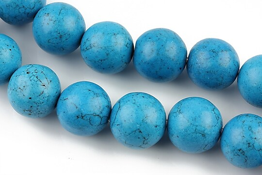 Howlit albastru, sfere 14mm