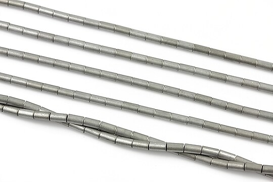 Hematit electroplacat tub 4x2mm - gri mat