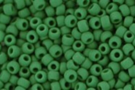 Margele Toho rotunde 11/0 - Opaque-Frosted Pine Green