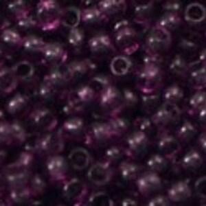 Margele Toho rotunde 11/0 - Transparent Med Amethyst