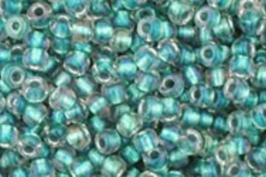 Margele Toho rotunde 11/0 - Inside-Color Rainbow Crystal/Teal Lin