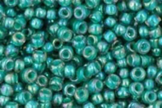 Margele Toho rotunde 11/0 - Inside-Color Rainbow Lt Sapphire/Opaque Teal Lined
