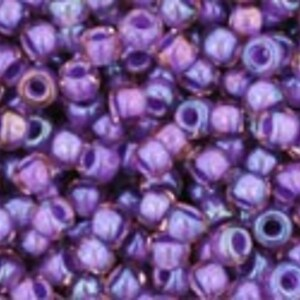 Margele Toho rotunde 11/0 - Inside-Color Rainbow Rosaline/Opaque Purple Lined