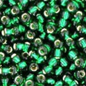Margele Toho rotunde 11/0 - Silver Lined Green Emerald