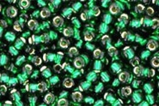 Margele Toho rotunde 11/0 - Silver Lined Green Emerald