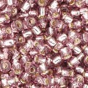 Margele Toho rotunde 11/0 - Silver Lined Lt Amethyst