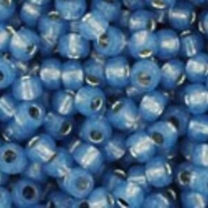 Margele Toho rotunde 11/0 - Silver-Lined Milky Montana Blue
