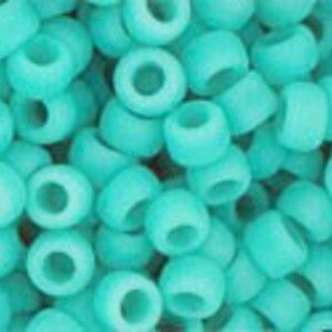 Margele Toho rotunde 8/0 - Opaque-Frosted Turquoise