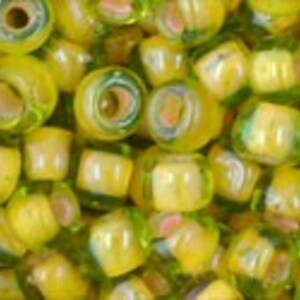 Margele Toho rotunde 6/0 - Inside-Color Jonquil/ Apricot Lined