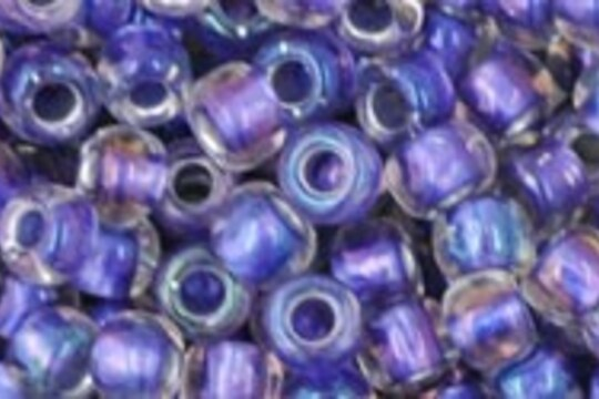 Margele Toho rotunde 6/0 - Inside-Color Rainbow Crystal/Metallic Purple Lined