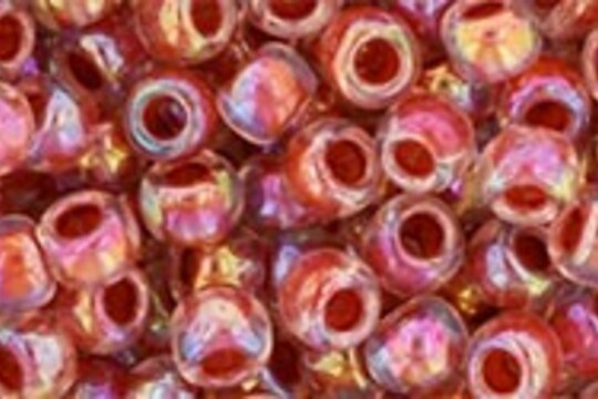 Margele Toho rotunde 6/0 - Inside-Color Rainbow Crystal/Sandstone Lined