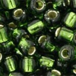 Margele Toho rotunde 6/0 - Silver-Lined Olivine