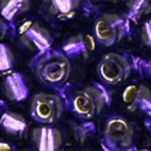 Margele Toho rotunde 6/0 - Silver-Lined Purple