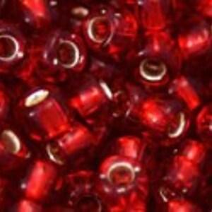 Margele Toho rotunde 6/0 - Silver-Lined Ruby