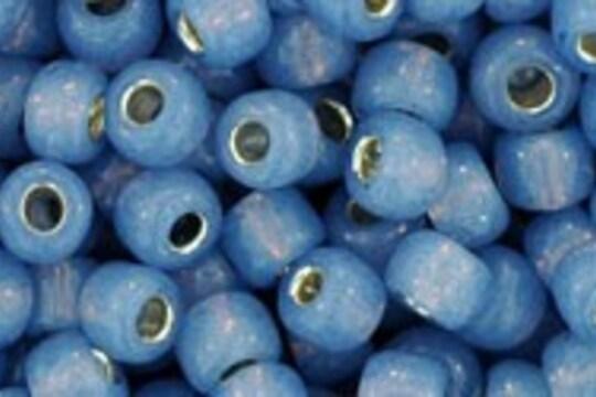 Margele Toho rotunde 6/0 - Silver-Lined Milky Montana Blue