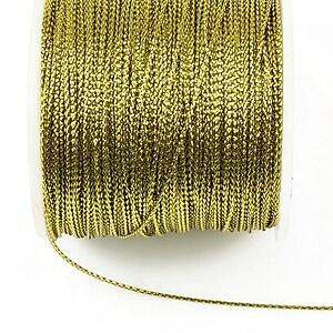 Snur metalic 0,8mm (1m) - auriu deschis