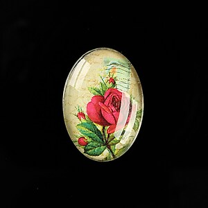 "Cabochon sticla 25x18mm ""Scrapbook Stuff"" cod 487"
