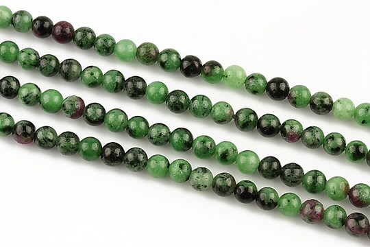 Ruby zoisite sfere 4mm (10 buc.)