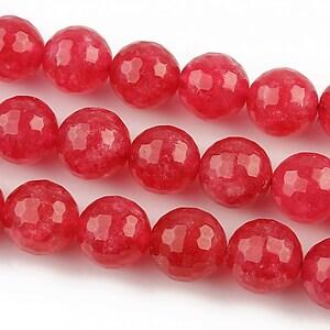 Jad sfere fatetate 10mm - rosu zmeura