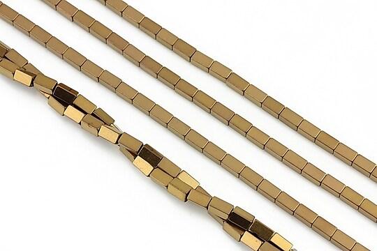 Hematit electroplacat dreptunghi 4x2mm - aramiu
