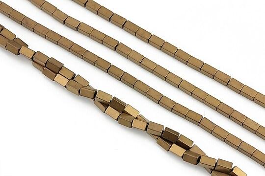 Hematit electroplacat dreptunghi 4x2mm - aramiu mat