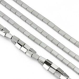 Hematit electroplacat dreptunghi 4x2mm - argintiu