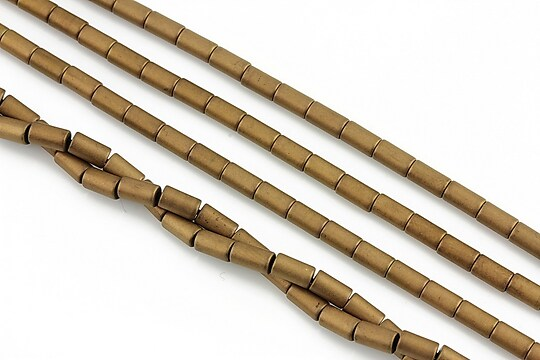 Hematit electroplacat tub 5x3mm - aramiu mat