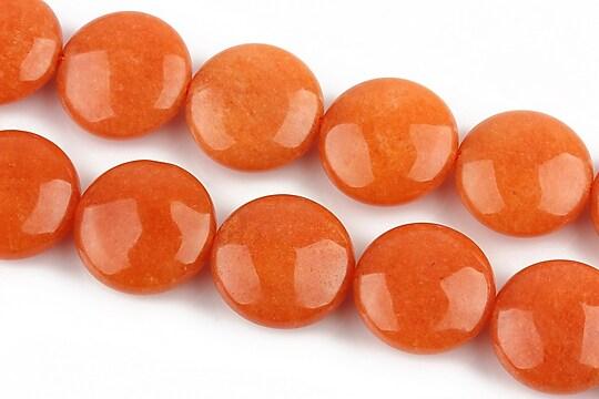 Jad banuti 16mm - portocaliu