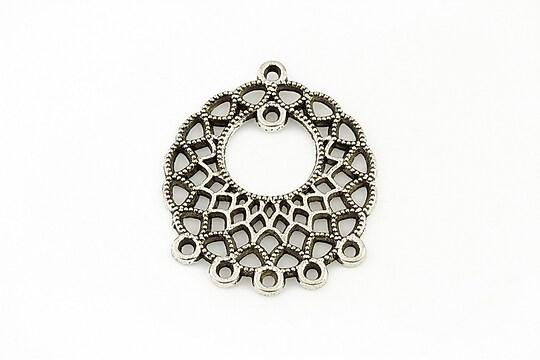 Chandelier argintiu antichizat 33x22mm