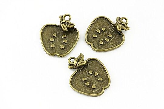 Charm bronz fruct 21x17mm