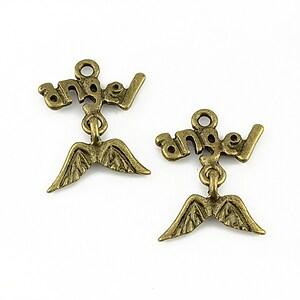 Charm bronz Angel 22x17mm