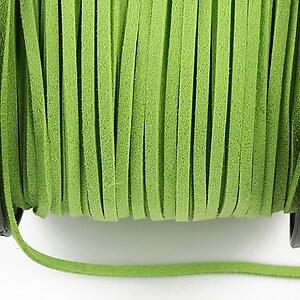 Snur suede (imitatie piele intoarsa) 3x1mm, verde mar (1m)