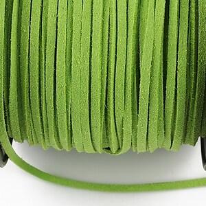 Snur suede (imitatie piele intoarsa) 3x1mm, verde crud (1m)