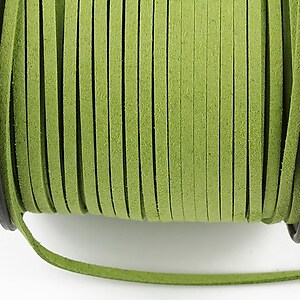 Snur suede (imitatie piele intoarsa) 3x1mm, verde olive (1m)