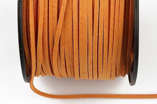 Snur suede (imitatie piele intoarsa) 3x1mm, sandy brown (1m)