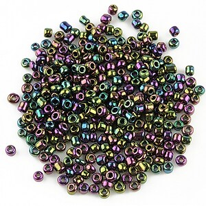 Margele de nisip perlate 2mm (50g) - cod 281 - multicolor