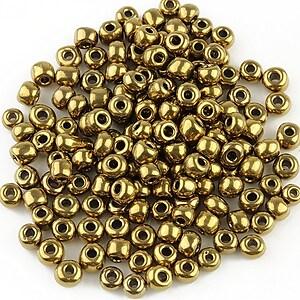 Margele de nisip 4mm (50g) - cod 295 - bronz